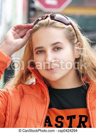 Beautiful blond girl - csp0424294