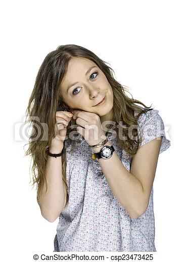 Beautiful Blond Girl - csp23473425
