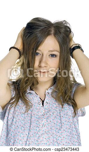 Beautiful Blond Girl - csp23473443