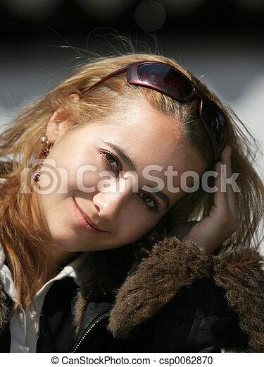 Beautiful blond girl - csp0062870