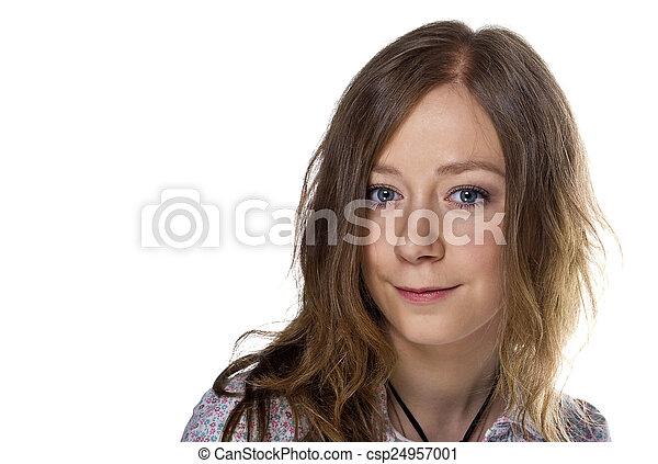 Beautiful Blond Girl - csp24957001