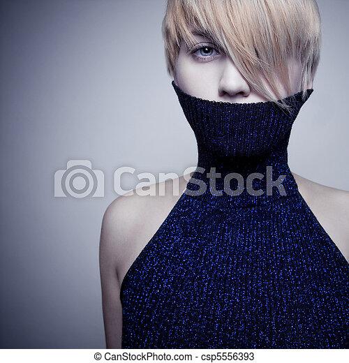 beautiful blond girl - csp5556393