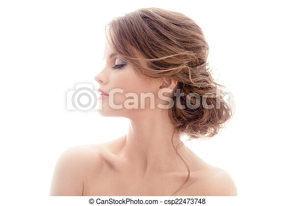 Beautiful Blond Woman. Hairstyle. - csp22473748
