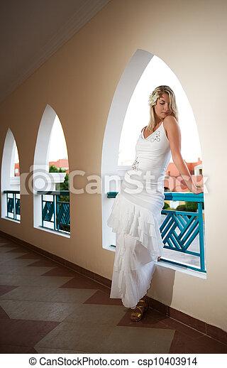 Beautiful blond woman - csp10403914