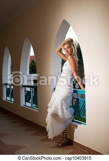 Beautiful blond woman - csp10403915