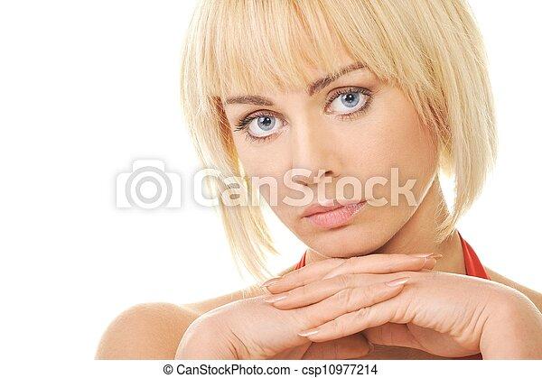 Beautiful blond woman  - csp10977214