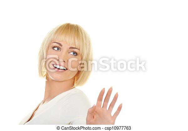 Beautiful blond woman  - csp10977763