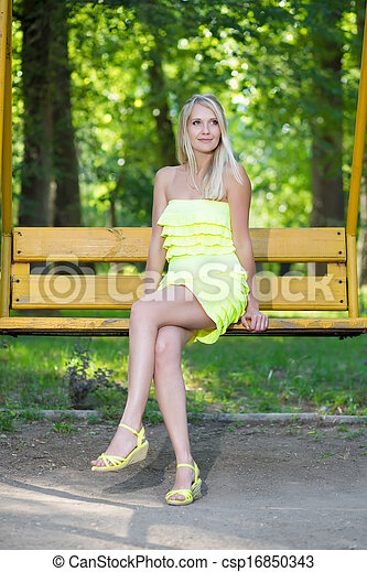 Beautiful blond woman - csp16850343
