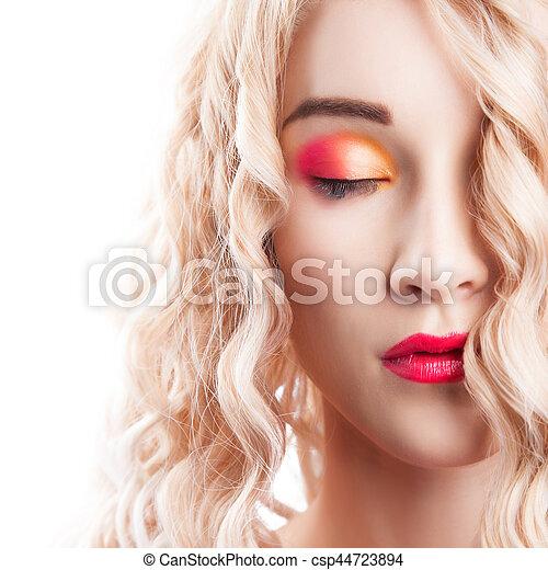 Beautiful blonde girl - csp44723894