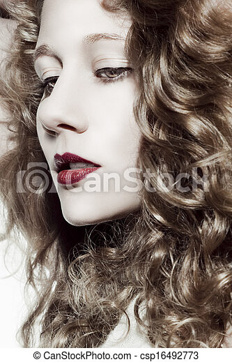 Beautiful blonde woman  - csp16492773