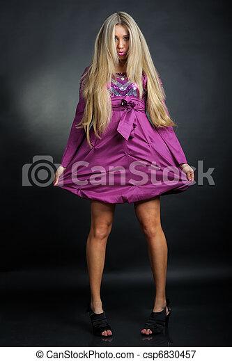 Beautiful blonde woman - csp6830457