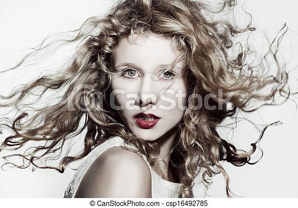 Beautiful blonde woman  - csp16492785