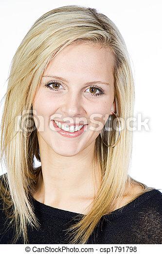 Beautiful Blonde Woman - csp1791798