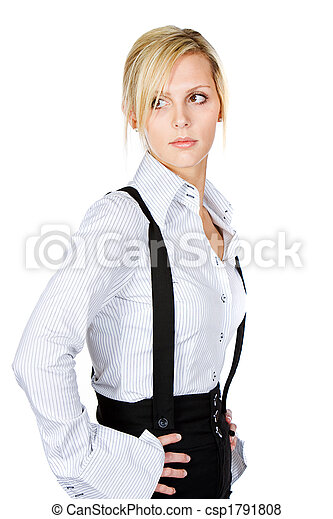 Beautiful Blonde Woman - csp1791808