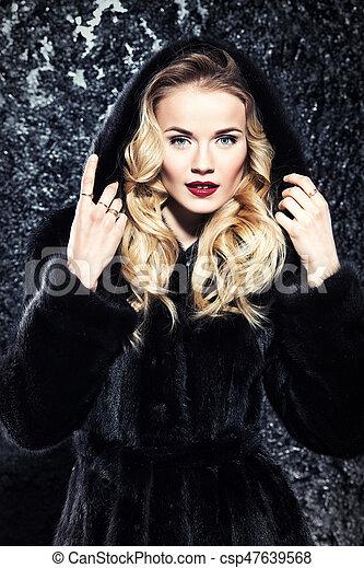 Would beautiful blonde in fur coat