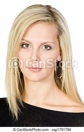 Beautiful Blonde Woman - csp1791794