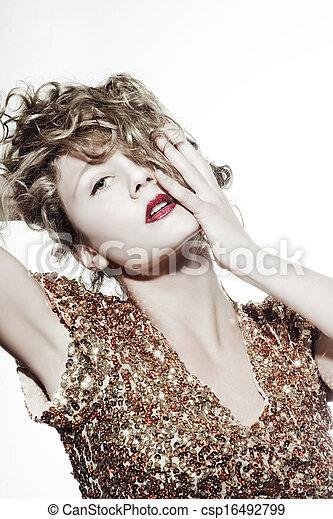 Beautiful blonde woman  - csp16492799