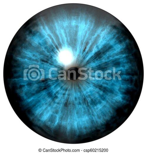 Beautiful blue eyes with bright light reflection. Fashionable blue eye - csp60215200