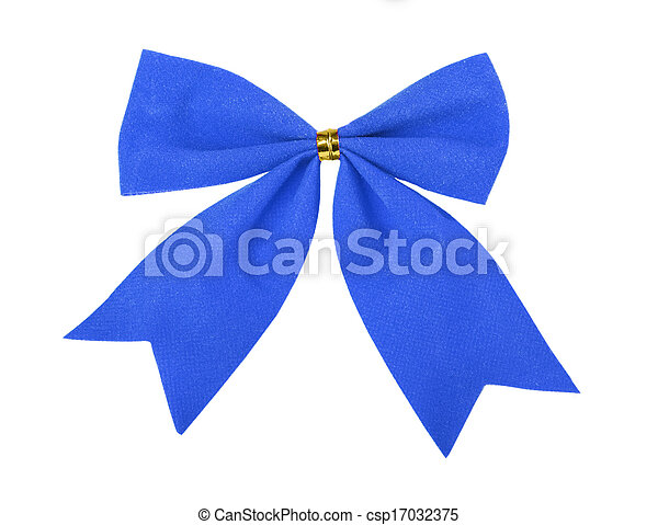 Beautiful blue gift bow - csp17032375