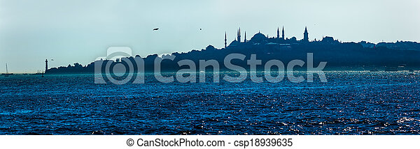 Beautiful blue Istanbul - csp18939635