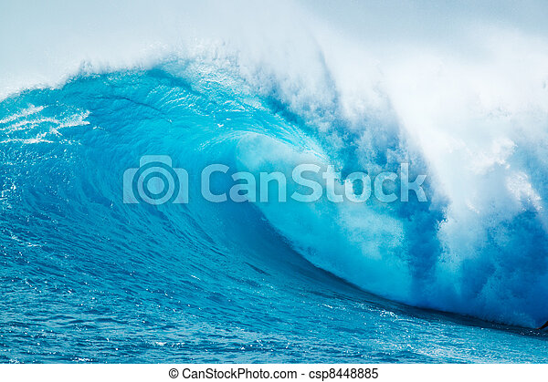Beautiful Blue Ocean Wave - csp8448885