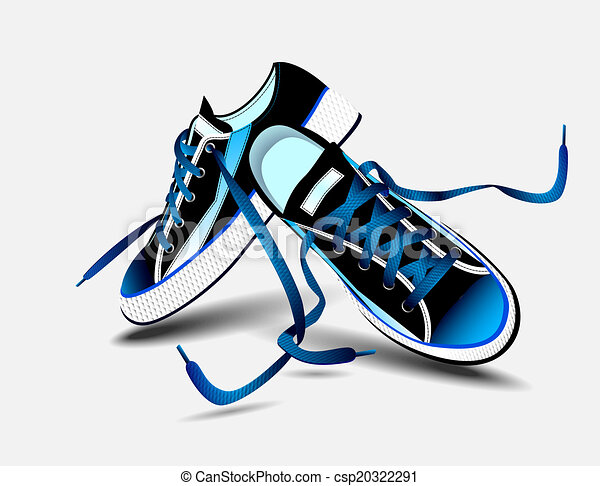 beautiful blue pair of sneakers - csp20322291