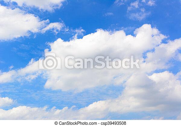 Beautiful blue sky 3 - csp39493508