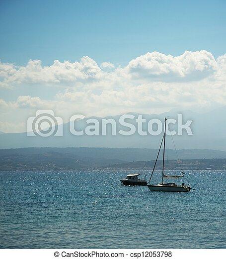 Beautiful boats in the sea - csp12053798