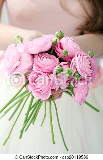 Beautiful bouquet on the table - csp20119586