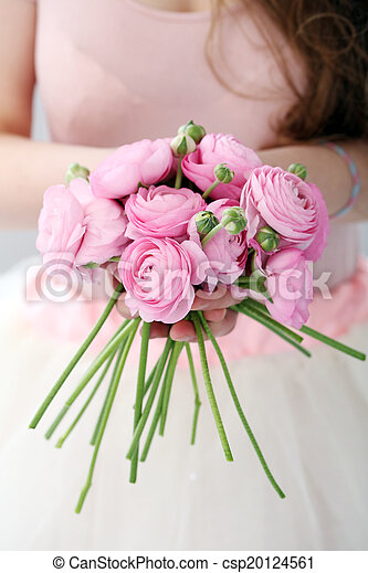 Beautiful bouquet on the table - csp20124561