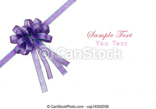 Beautiful bow on white background - csp16302036