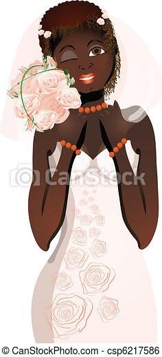 beautiful bride - csp6217586