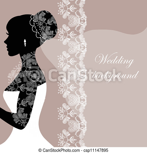 Beautiful bride with lace - csp11147895