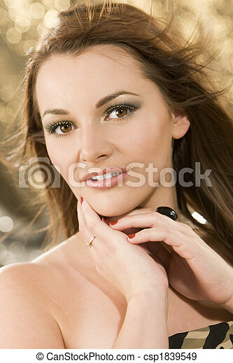 Beautiful Brunette - csp1839549
