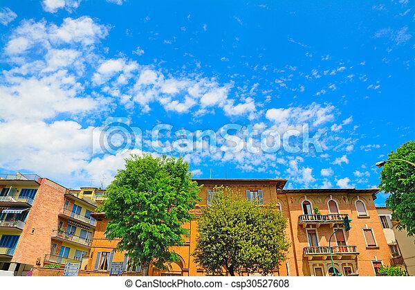 beautiful buildings in Siena - csp30527608