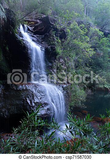 Beautiful bushland waterfall in Blue Mountains - csp71587030