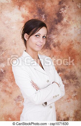 Beautiful business woman - csp1071630