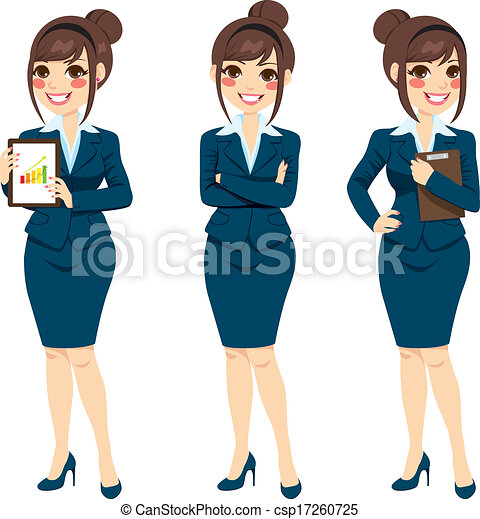 Beautiful Businesswoman Posing - csp17260725