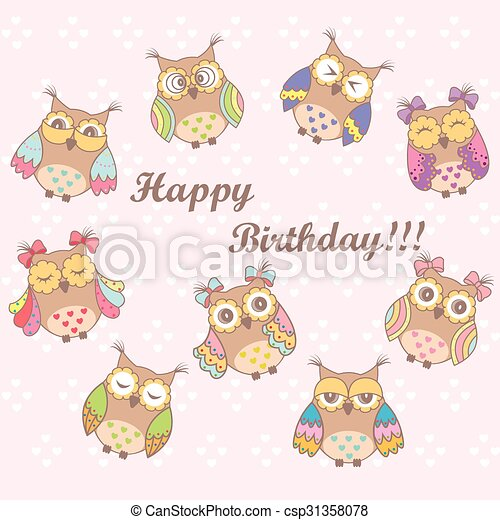 Beautiful card with a birthday - csp31358078