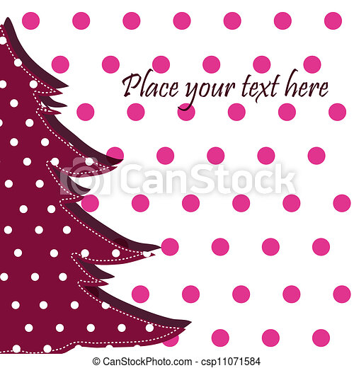 Beautiful card with Christmas - csp11071584