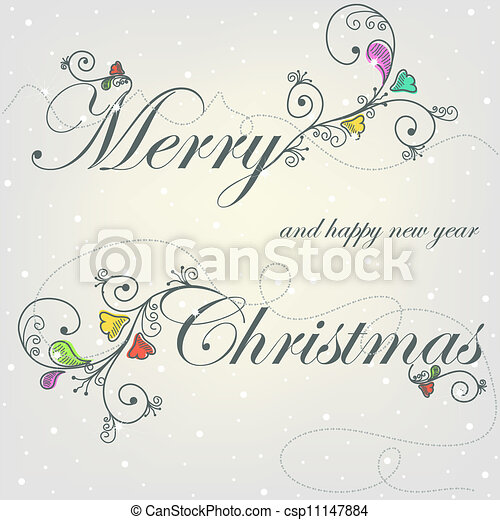 Beautiful card with Christmas - csp11147884