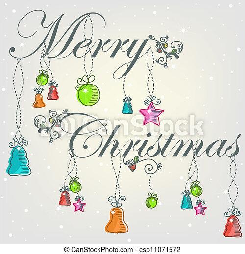 Beautiful card with Christmas - csp11071572