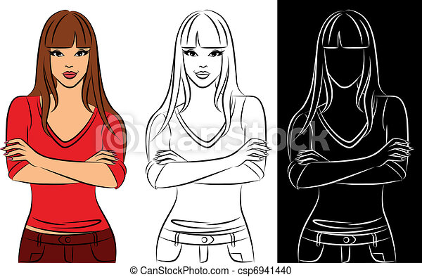 Girl Cartoons To Draw Girl Drawing Smoking Clipart Png