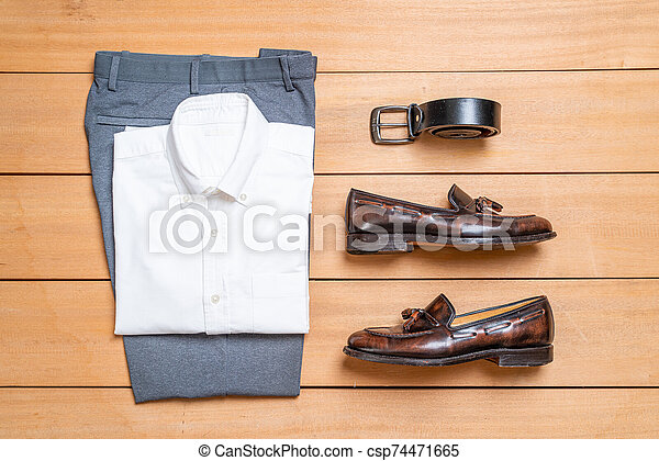 Beautiful casual men fashion and clothes set - csp74471665