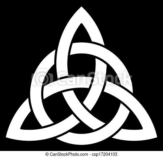 Beautiful Celtic Trinity knot - csp17204103