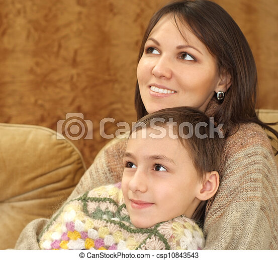 Beautiful charming mama with her son - csp10843543