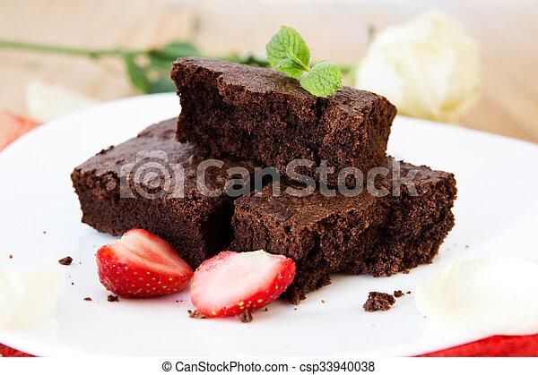 Beautiful Chocolate Cake With Fresh Strawberries Beautiful