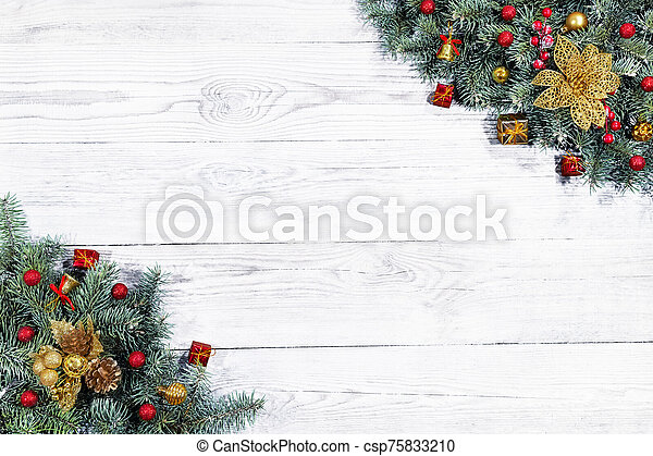 Beautiful Christmas background. - csp75833210
