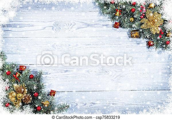 Beautiful Christmas background. - csp75833219