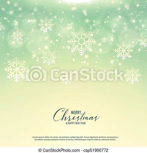beautiful christmas background with snowflakes - csp51900772